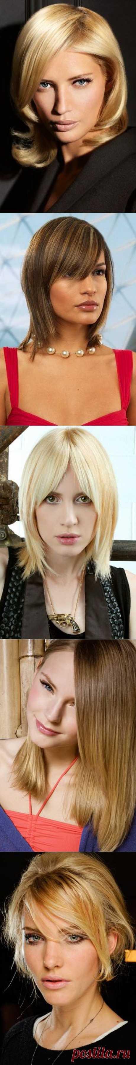 De 36 mejores peinados femeninos 2014 para los cabellos medios. Los peinados a la moda con