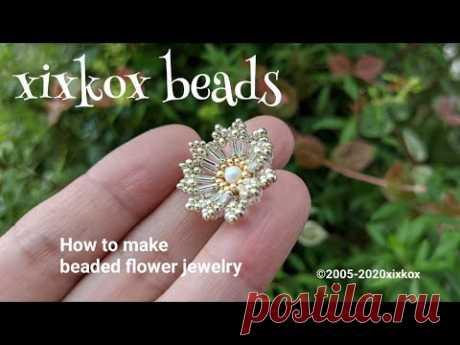 【DIY】xixkox beads ✺ビーズで編む小菊のピアス Beaded Jewelry