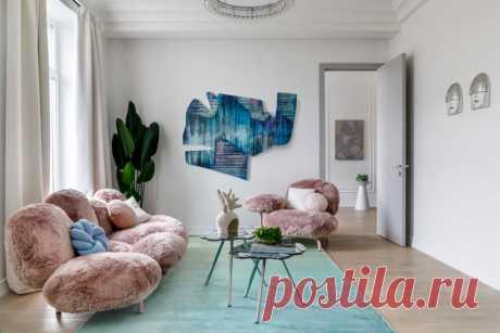 Интерьер с необычными деталями по проекту Дианы Балашовой, 55 м