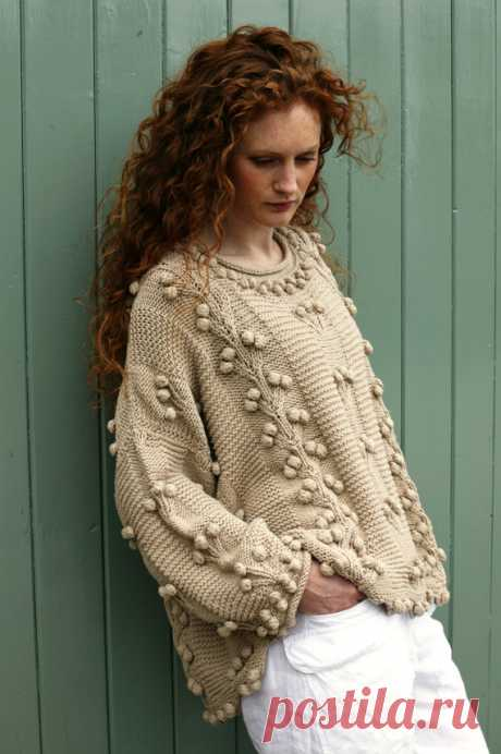 """Siobhan Hand Knitted Aran Style Jumper/Sweater ~ CLARET ~ Size: XL/XXL ~  Hip Length; 23"""" (59cm) SIOBHAN HAND KNITTED COTTON SWEATER/JUMPER – SIZE:XL/XXL - HIP LENGTH:23″(59CM) A massive, robust, chunky, extremely stylish Jumper that will envelope you. Indispensable, very easy, very cosy, this soft hand knit will be with you for a long, long time indeed. Excellent for"""