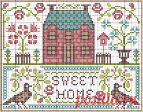 новогодние домики много схем