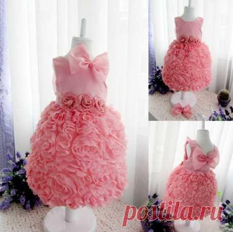 Платье ( ChiL 14 ) Размер: 105, 115, 125, 130 Материал : сатин, хлопок