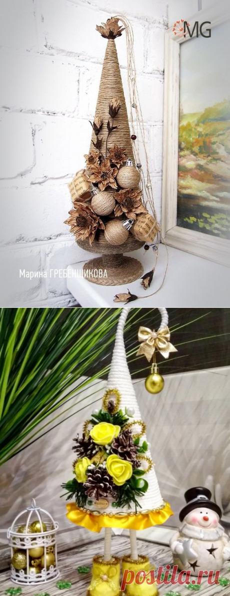 Красивые ёлочные игрушки из шпагата и другие очень интересные идеи