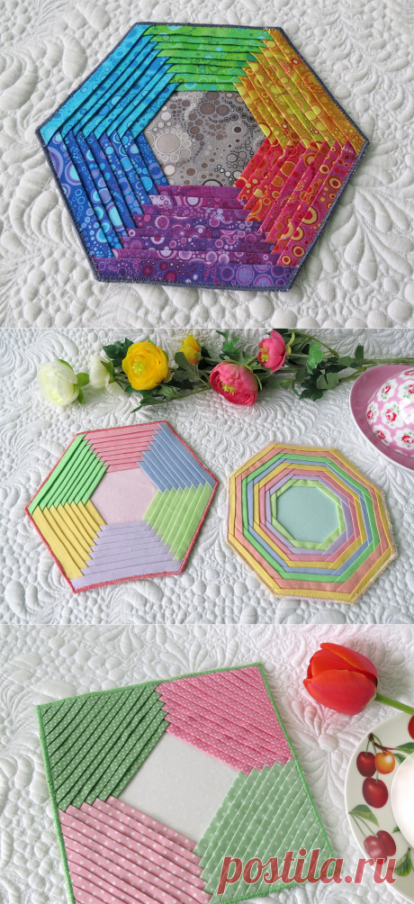 Folded Hexagons and Octagons - Geta's Quilting Studio