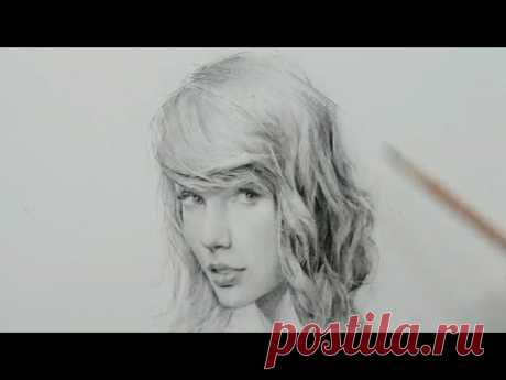 Taylor Swift pencil drawing