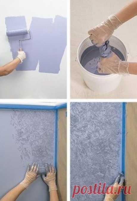 Для тех, кто делает ремонт: интересные способы покраски стен