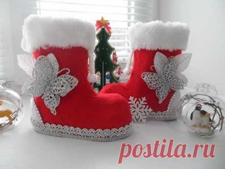 Новогодние сапожки Своими руками DIY New Year's boots
