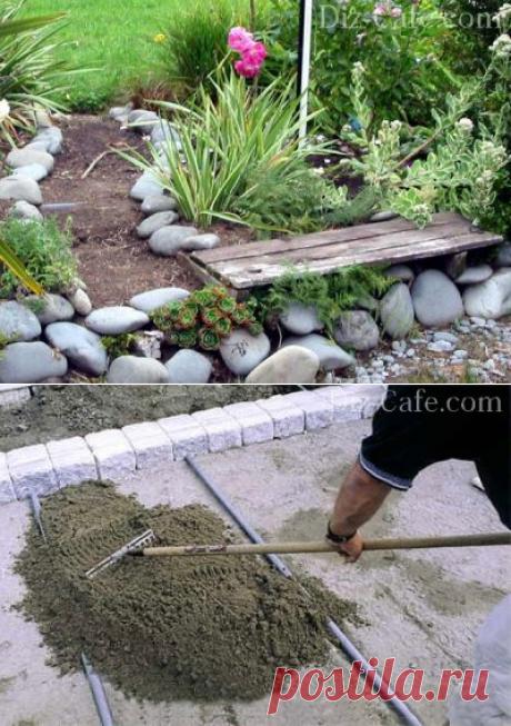 Садовые дорожки своими руками: из дерева, пластика, камня + примеры мощения