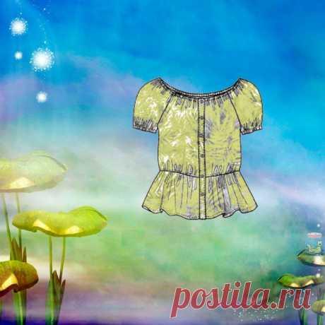 Блузка р-р 34-52. Спасибо за выкройку группе Мама сшила. #блузка #выкройка #пдф #моделирование #шитье #крой #мамасшила #швейнаякопилка