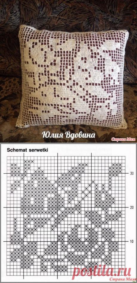 """Подушка """"Бабочки"""" - Вязание - Страна Мам"""