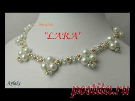 """Aylake - How to make beaded necklace """"LARA"""""""
