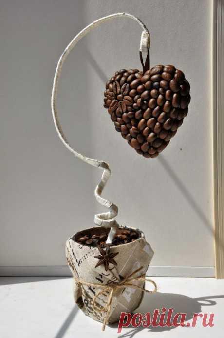 Поделки из кофейных зерен - фото примеры