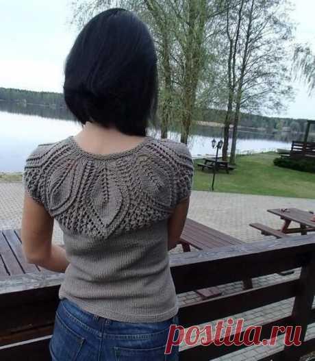 Шикарный реглан со схемой вязания