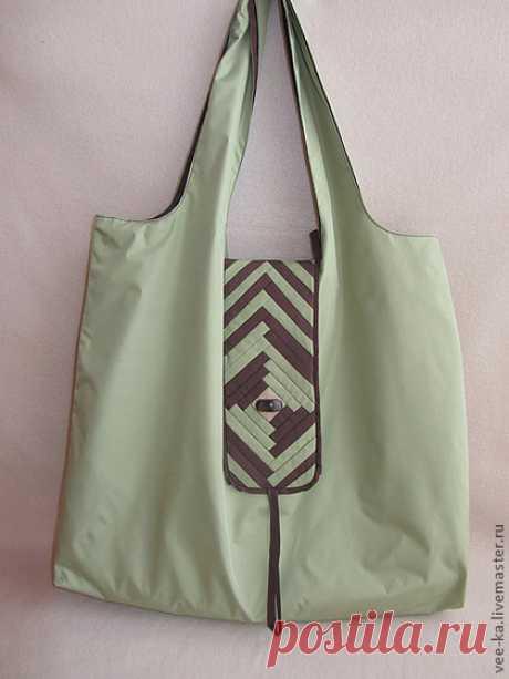 """Купить """"Амулет"""" экосумка-трансформер - Экосумка, сумка-трансформер, Красивая сумка, зеленая сумка"""