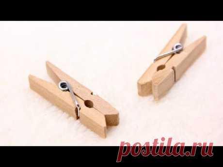 Los artículos de las pinzas.\u000d\u000a¡7 Things You Can Make From Clothespins!! 【DIY 】 - YouTube