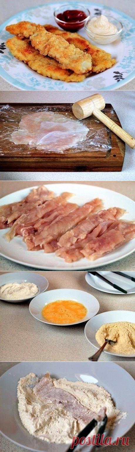 Как приготовить хрустящие куриные палочки - рецепт, ингредиенты и фотографии