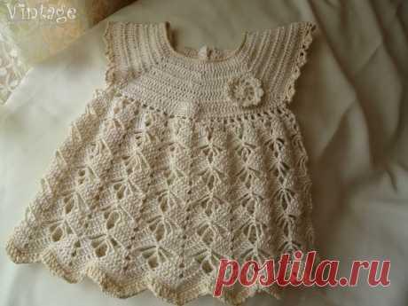 Вязаное платье для малышки / Вязание как искусство!