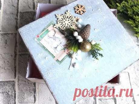 Делаем подарочную упаковку из обувной коробки мастер класс