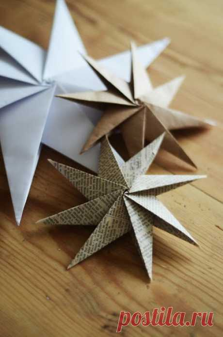 Звезда-оригами. Мастер-класс.
