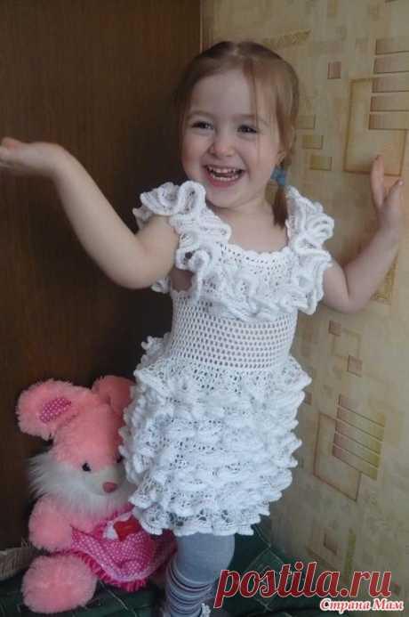Платье для дочки «БЕЛОЕ ОБЛАЧКО!!!» Авторская работа - Натальи Букиной. Мастер-класс.