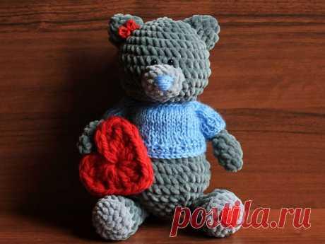 Мастер-класс смотреть онлайн: Вяжем мишку Тедди в свитере | Журнал Ярмарки Мастеров