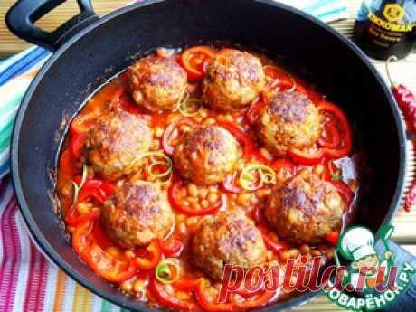 Тефтели в фасолево-томатном соусе - кулинарный рецепт