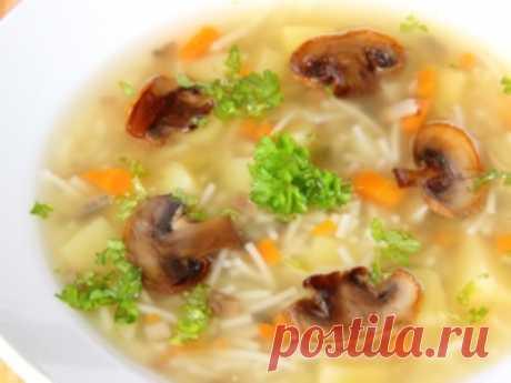 Рецепт: Постный суп с вермишелью