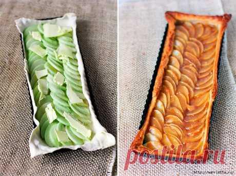 Яблочный пирог с подсоленным карамельным соусом