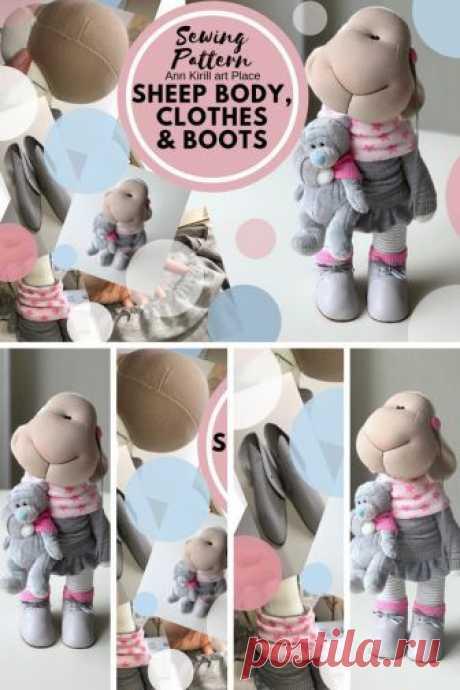 Sewing Pattern Sheep Body Cloth & Boots Sheep Doll Tutorial | Etsy