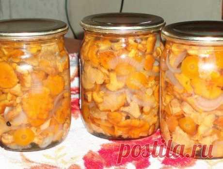 А вот и новый рецепт: Маринованные лисички с луком