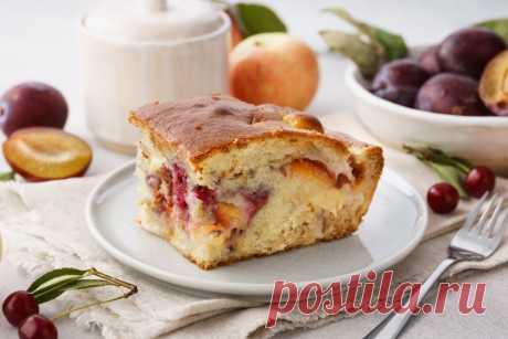 Быстрый пирог на кефире: рецепт пошаговый с фото   Меню недели