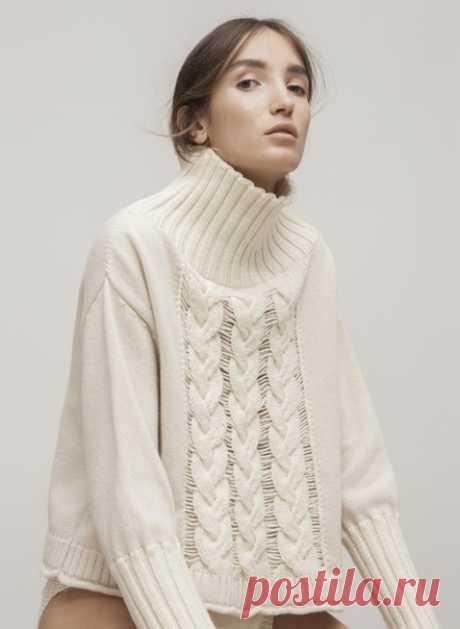 Идея свитера с косами  #Идеи@clubmnemosina