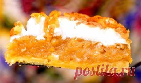 Яблочный пирог с белковым кремом «Облака»