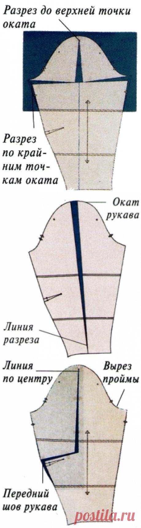 Как изменить выкройку облегающего рукава - Кройка и шитье