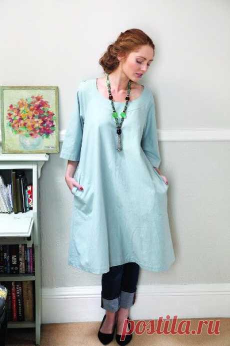 Платье с выкройкой в натуральную величину