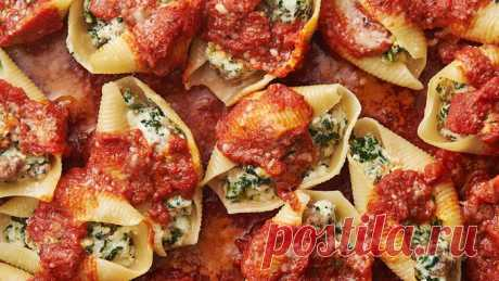 Sausage, Spinach and Cheese Stuffed Shells recipe - from Tablespoon!
