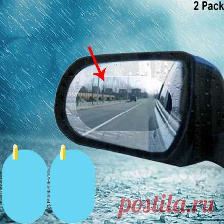 Автомобильная водонепроницаемая пленка для зеркала заднего вида, водонепроницаемая пленка, универсальная прозрачная противотуманная Антибликовая Наклейка на окно | Автомобили и мотоциклы | АлиЭкспресс