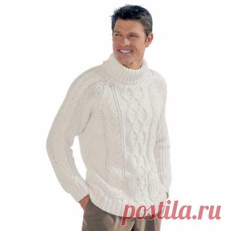Мужской свитер спицами схема описание. Как связать мужской свитер | Вязание для всей семьи