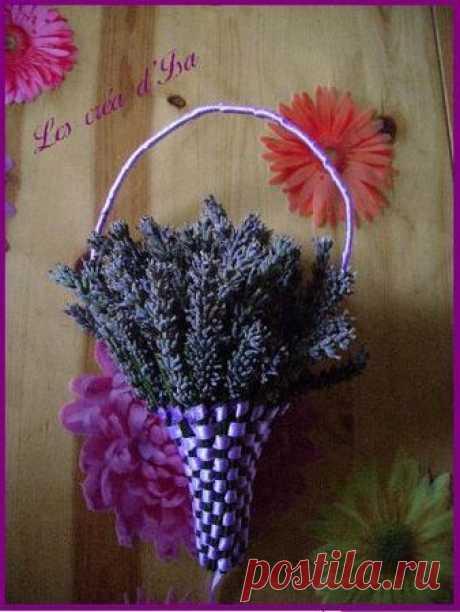 Лаванда Panier de Lavande Tutoriel / Lavender Basket Tutorial