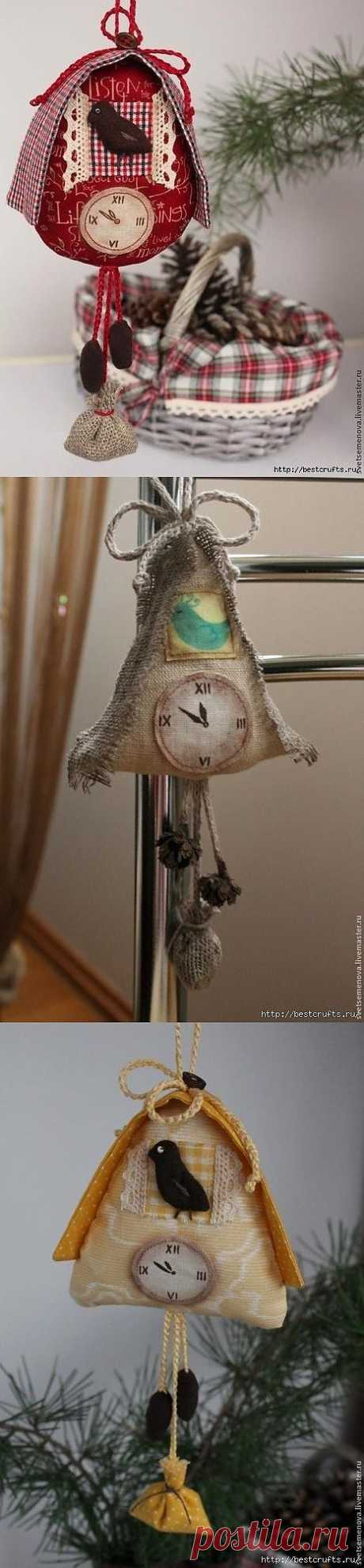 Новогоднее интерьерное украшение: часы с кукушкой!