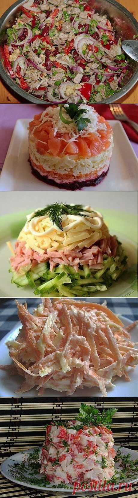 Подборка 10 самых вкусных салатов! Забираем, что бы не потерять!.