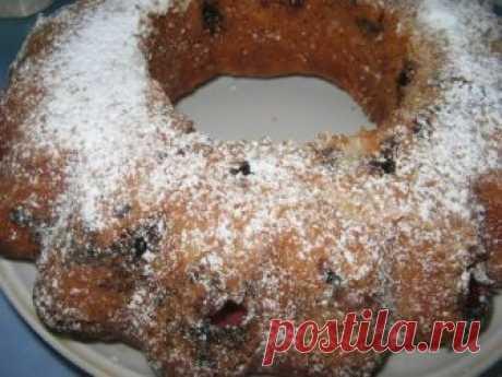 Безумно вкусный кекс с вишней и маком — мягкий с нежной кислинкой!