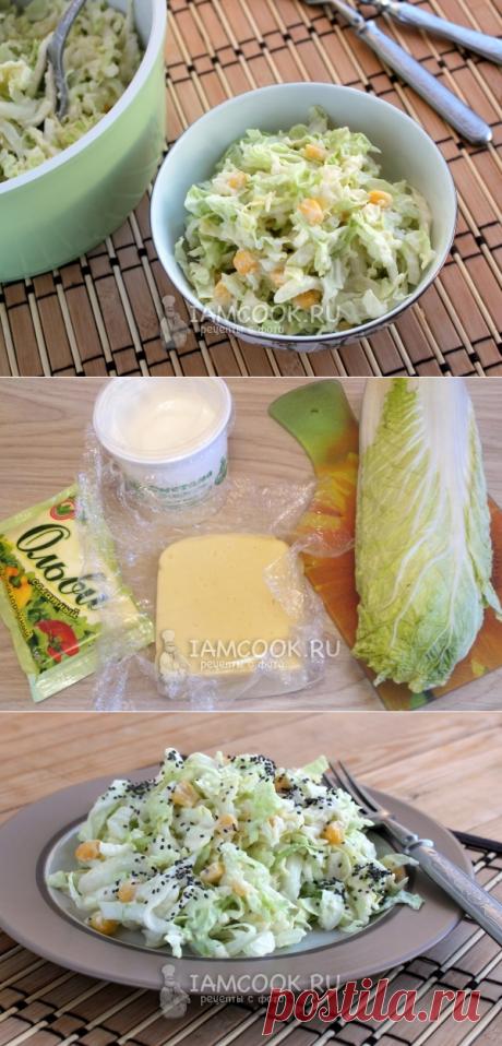 Салат из пекинской капусты с сыром — рецепт с фото пошагово