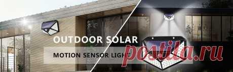100 светодиодный светильник на солнечной батарее, уличный солнечный светильник, солнечный светильник, 3 режима, PIR датчик движения для украшения сада, настенная уличная лампа|Светодиодные солнечные лампы| | АлиЭкспресс