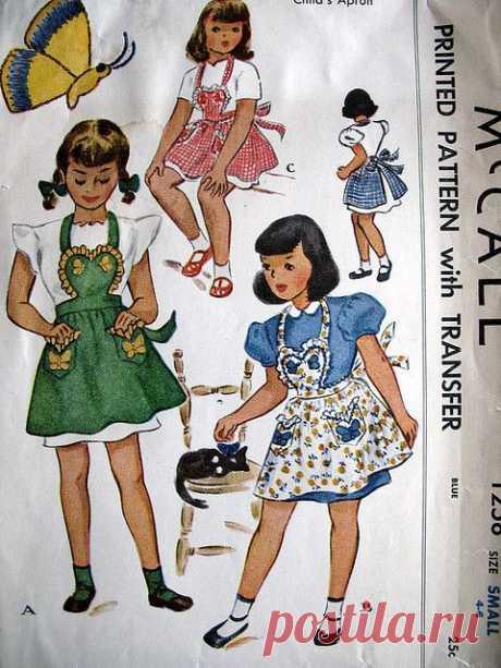vintage mccall apron pattern