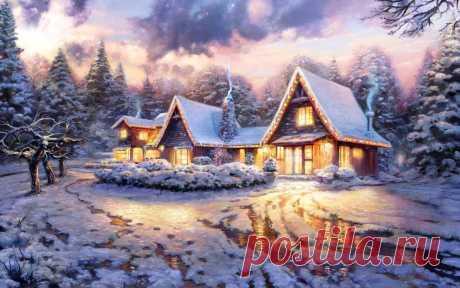 skazochnyiy-novogodniy-dom-girlyandyi-sneg-derevya.jpg (1200×750)