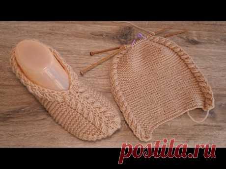 Следки «Гиацинт» спицами 🌺 Slippers «Giacint» knitting patterns