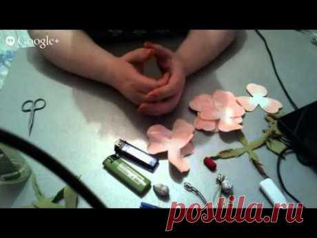 Мастер-класс Заколка с розами из фоамирана. Ирина Зимина - YouTube