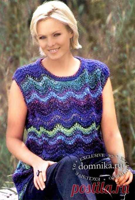 Вязание спицами для полных - женская кофточка большого размера
