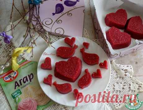 Малиновые желейные конфеты на агар-агаре – кулинарный рецепт
